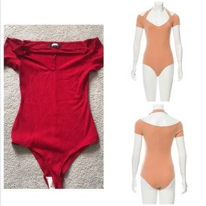 RED REFORMATION ribbed bodysuit